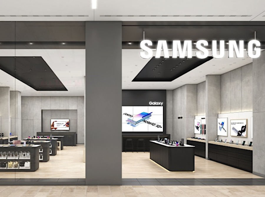SAMSUNG STOREFRONT IN A MALL